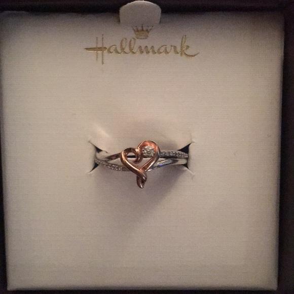 78 off hallmark Jewelry hallmark sterling silver rose gold ring